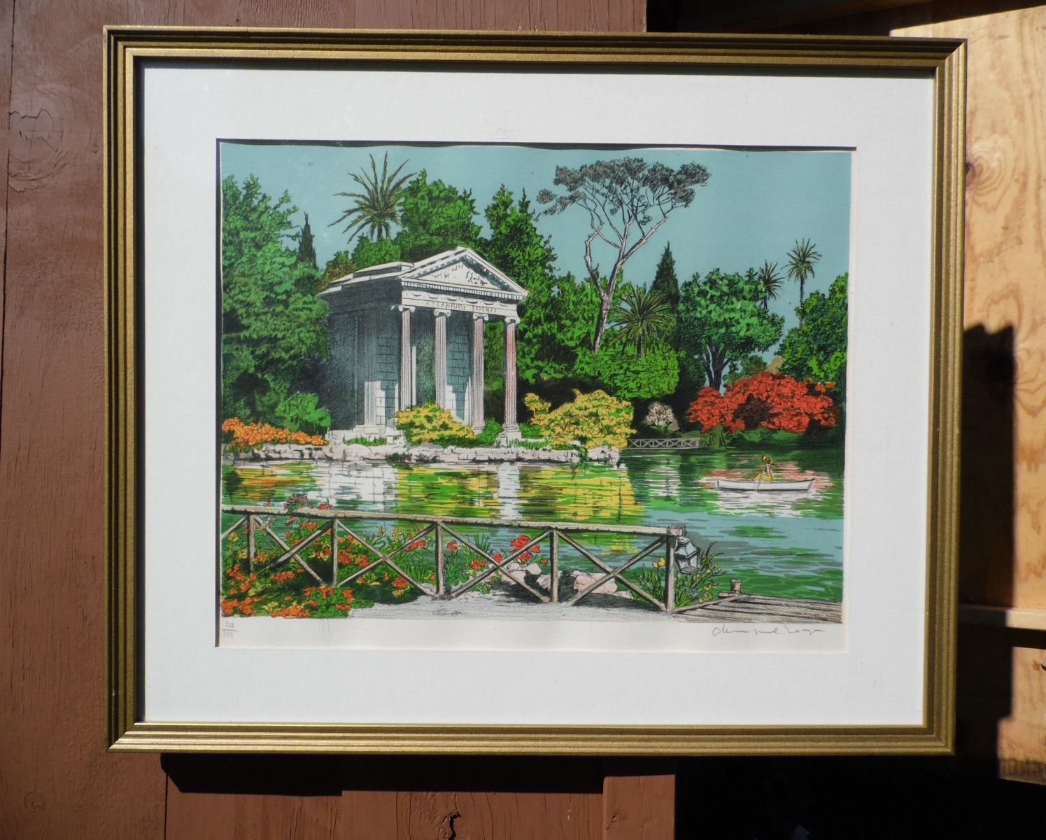 Mid Century Modern French Artist Denis Paul Noyer Limited Edition Lithograph