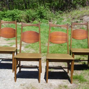 Vintage Set of 4 Mid Century Modern Bassett Dining Chairs