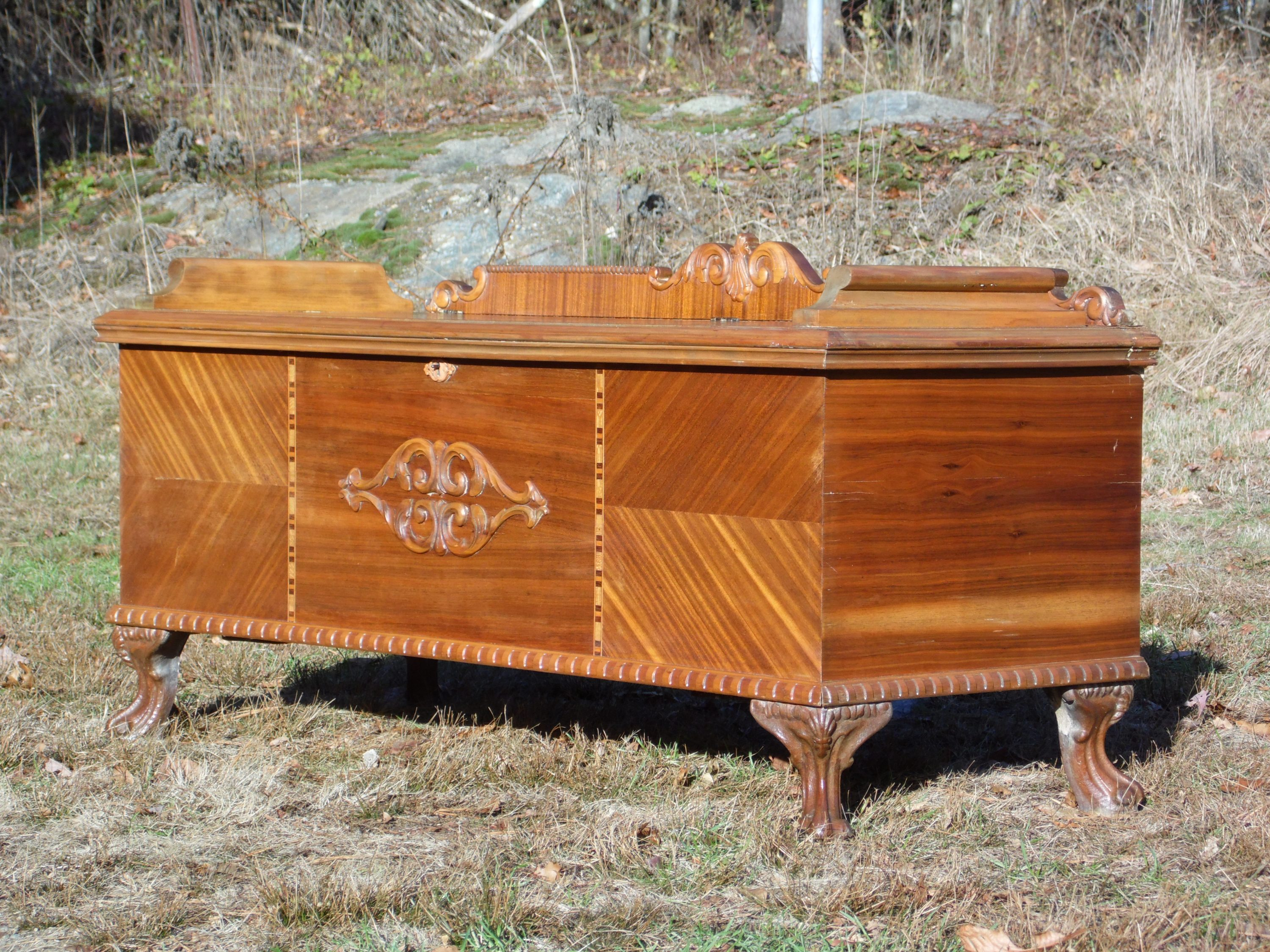 Ornate Hope Chest Bench Benches