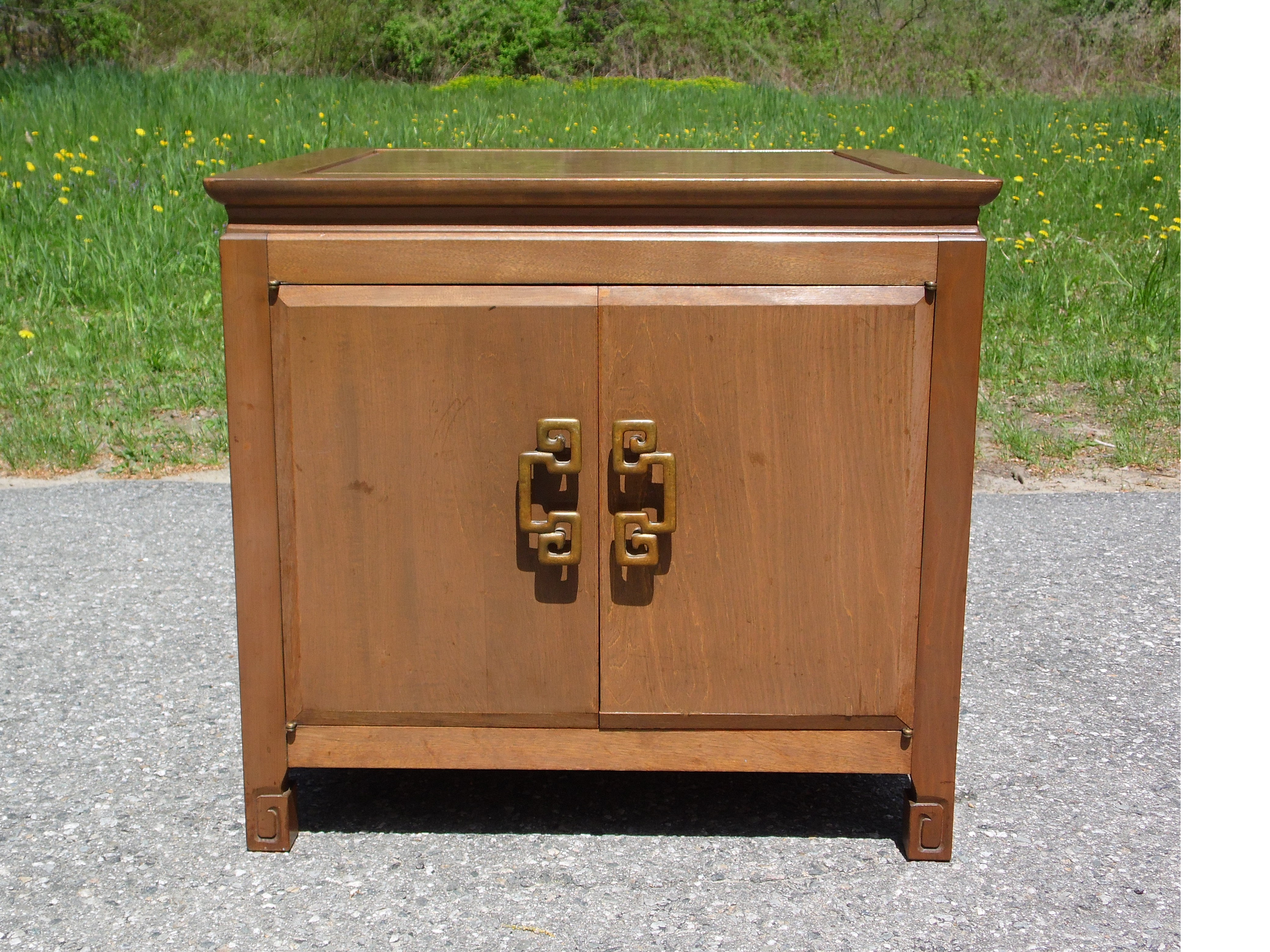 Regency Style Petite Compact Cabinet Mini Credenza Chest Storage Unit