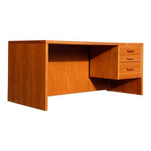 Vintage Mid Century Danish Modern Jesper Teak Executive Office Desk