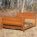 Vintage Solid Cherry Full Size Double Jenny Lind Spool Bed