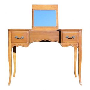 Vintage French style Desk Dressing Table Vanity Flip Up Mirror
