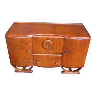 Antique English Art Deco Beautility Cocktail Sideboard Cabinet Buffet Server