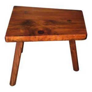 Vintage Tree Slab Tripod Side Table Pioneer Furniture VT