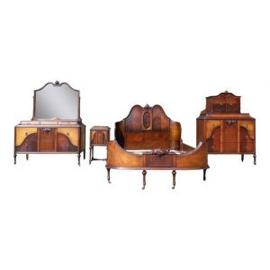 Antique H Herrmann French Art Nouveau Bedroom Set