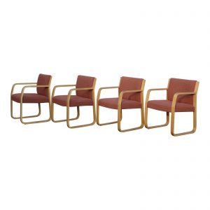 Vintage Set 4 Mid Century Modern Bentwood Lounge Office Arm Chairs IIL Canada