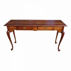 Vintage Hitchcock Solid Cherry Traditional Queen Anne Entry Sofa Console Table