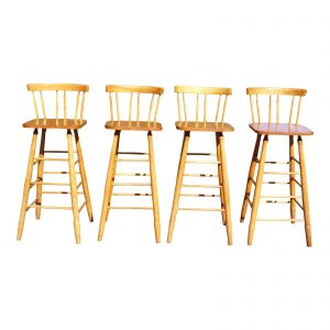 vintage-set-of-4-guy-livingstone-wooden-farmhouse-kitchen-counter-stools-bar-stools