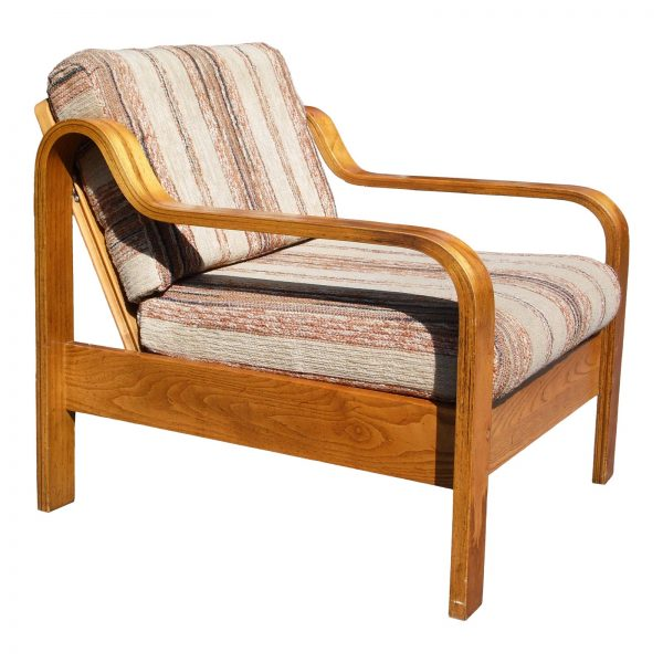 Vintage Mid Century Modern Taylor Ramsey Bentwood Lounge Chair