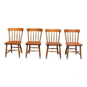 Vintage Set of 4 Mid Century Heywood Wakefield Publick House Maple Dining Chairs
