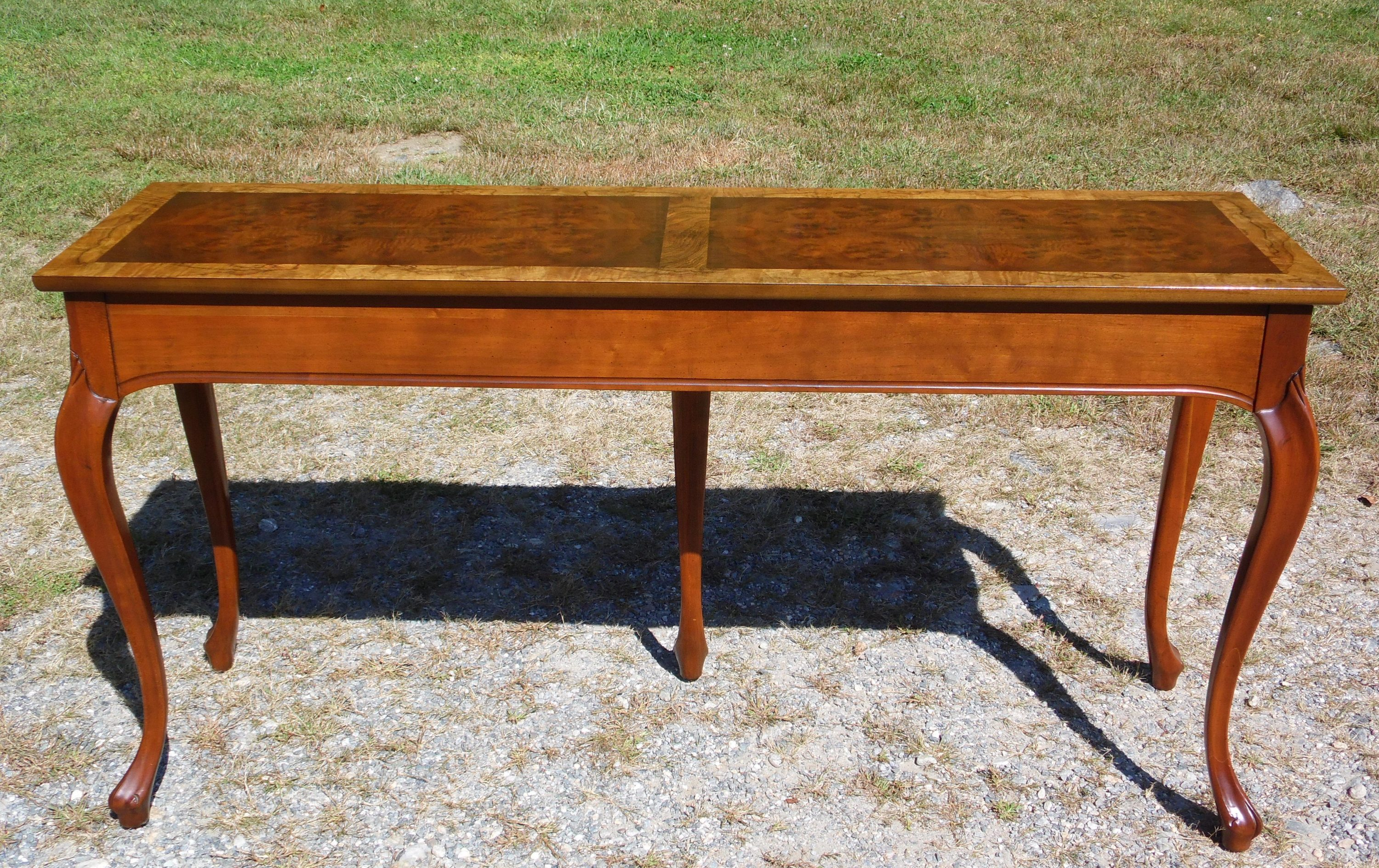 Admirable Vintage Traditional Baker Furniture Louis Xv Style Walnut Console Sofa Table Andrewgaddart Wooden Chair Designs For Living Room Andrewgaddartcom