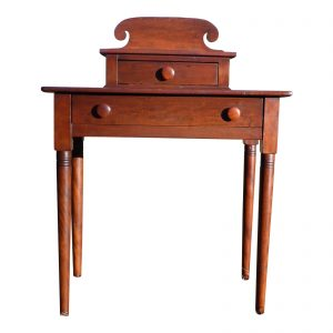 Antique 1840's Sheraton 2 Drawer Desk Vanity Entry Table New England