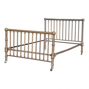 Antique Brass Cannonball Full Double Bed Frame