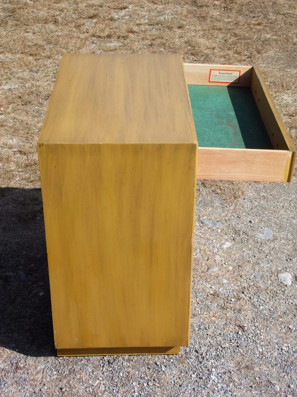 Vintage Mid Century Modern Lane Upright Space Saver Cedar Chest Storage Cabinet