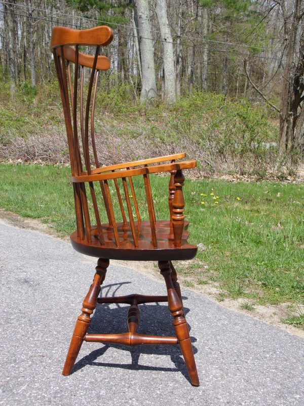 Vintage Sugar Hill Furniture Fan Back Windsor Arm Chair Maine Comb-Back Chair
