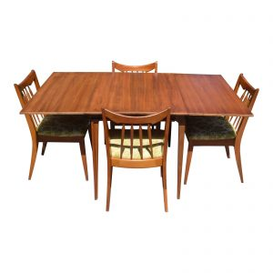 Vintage Mid Century Modern Red Lion Mahogany Dining Set
