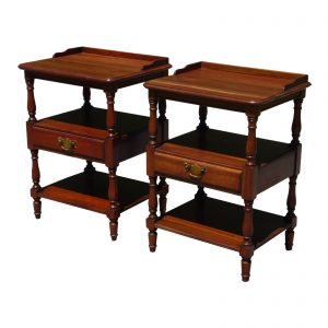 Vintage Pair Pennsylvania House Solid Cherry Nightstands End Tables