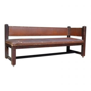 Antique Mission Arts & Crafts Fireside Bench