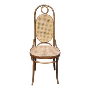 Vintage Bentwood Caned Chair Thonet No. 17 High Back Chair