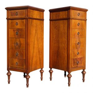 Vintage Pair Grand Rapids French Louis XVI Style Lingerie Chests Chiffoniers