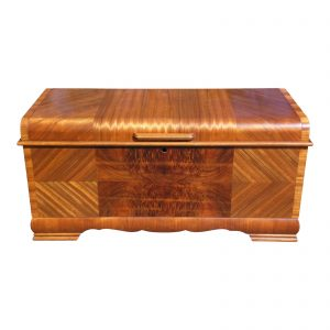 Vintage Lane Art Deco Waterfall Cedar Trunk Hope Chest