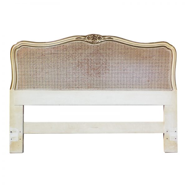 Vintage Henredon French Provincial Caned Headboard Full/Queen Bed